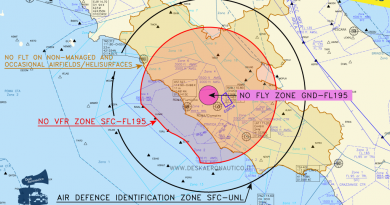 4 luglio: divieti di sorvolo fino a 35 NM da Roma e limitazioni nelle aviosuperfici del Lazio | Desk Aeronautico